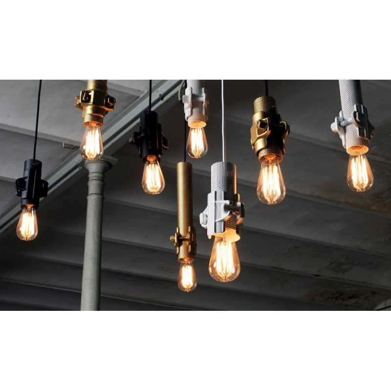 Suspension design industriel nando de karman - Suspension metal style industriel ...