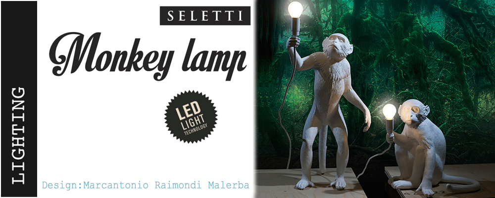 monkey lampe assis seletti. Black Bedroom Furniture Sets. Home Design Ideas