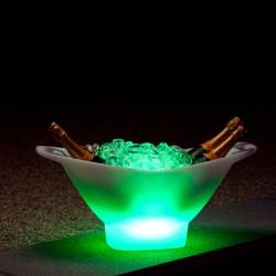 Seau à champagne lumineux , porte-bouteilles CHAMPAGNE, Imagilights