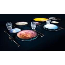 Assiette à dessert Cosmic Diner Saturne diesel living with SELETTI