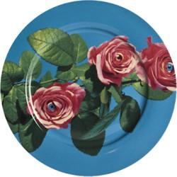 Assiette porcelaine ROSES TOILETPAPER seletti