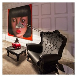 Fauteuil Queen of Love Noir/design of love