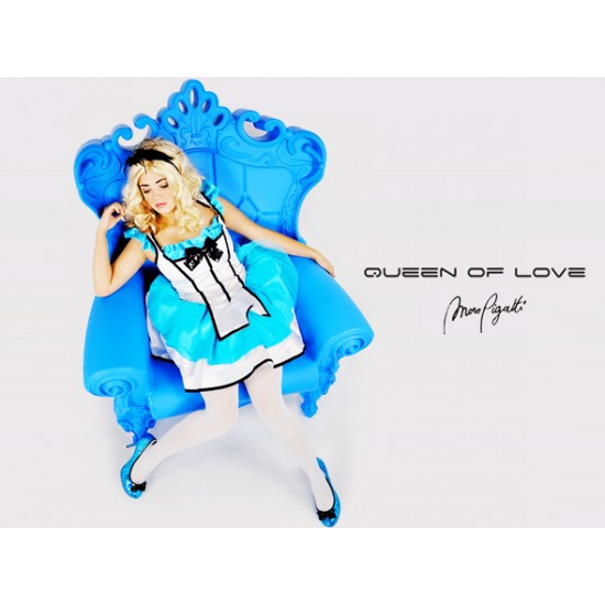 Fauteuil queen of love bleu/ design of love