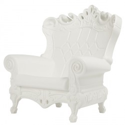 Fauteuil little queen of love blanc