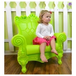 Fauteuil little queen vert/design of love