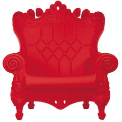 Fauteuil little queen of love rouge/design of love