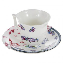 Tasse à café-soucoupe Léonia Hybrid SELETTI