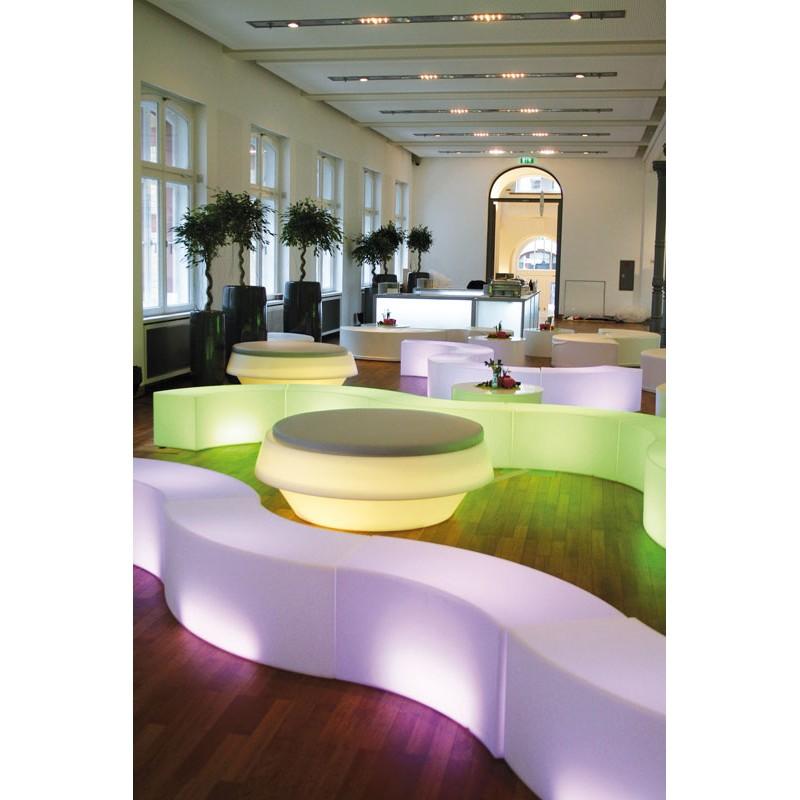 Banc lumineux marque slide design snake mobilier jardin - Mobilier jardin lumineux ...