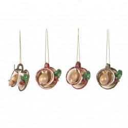 Décoration de Noel Mice in Teacup ( set de 2)-GOODWILL