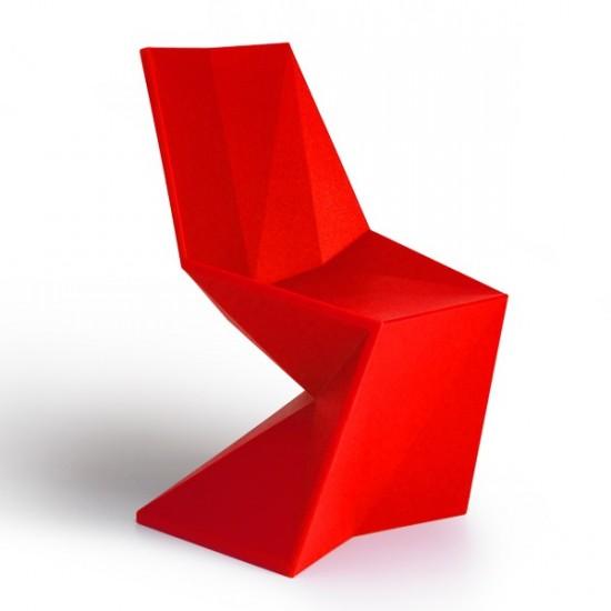 Chaise Vertex SILLA Rouge- VONDOM