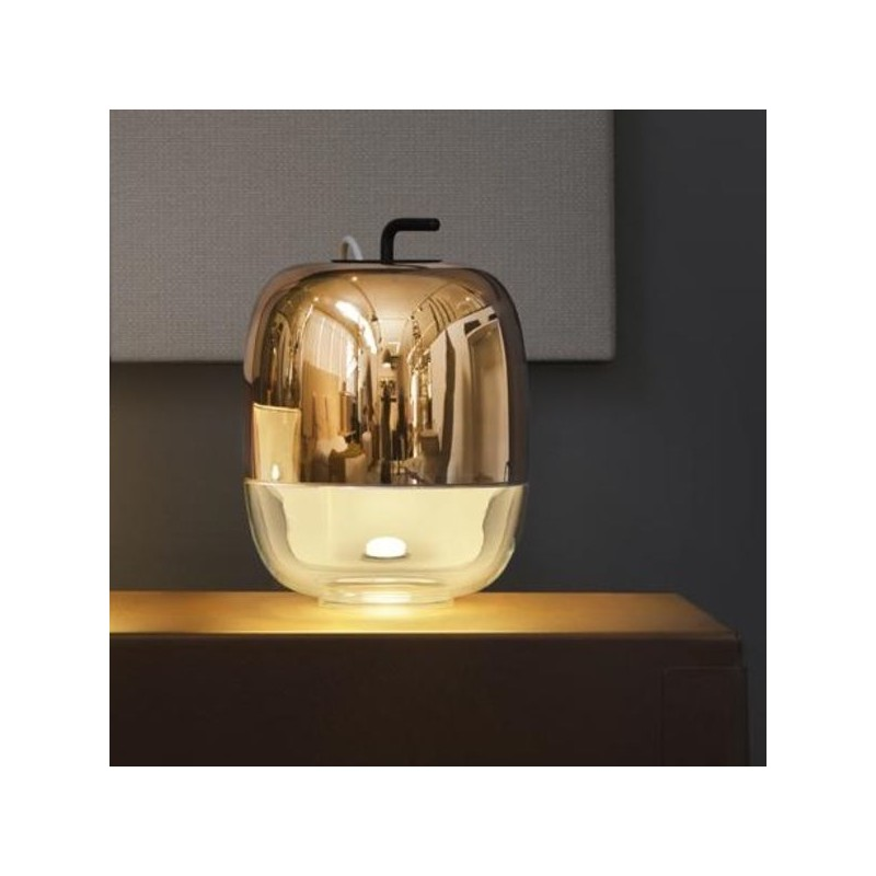 Lampe gong marque prandina lampe design couleur cuivre small t1 - Lampe italienne design ...
