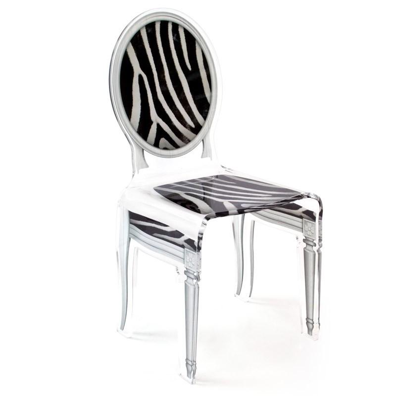 Chaise sixteen zebre acrila - Fauteuil zebre ...