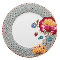 Assiette plate Fantasy bleu - Blooming Tails