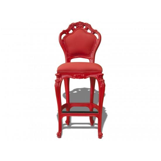 Tabouret haut wonderland rouge polart design for Mobilier outdoor haut de gamme