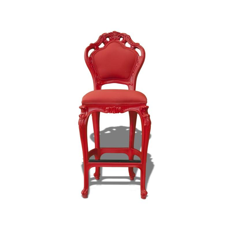 Tabouret Haut Wonderland Rouge Polart Design