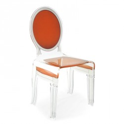 Chaise SIXTEEN orange ACRILA