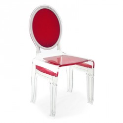Chaise SIXTEEN rouge ACRILA