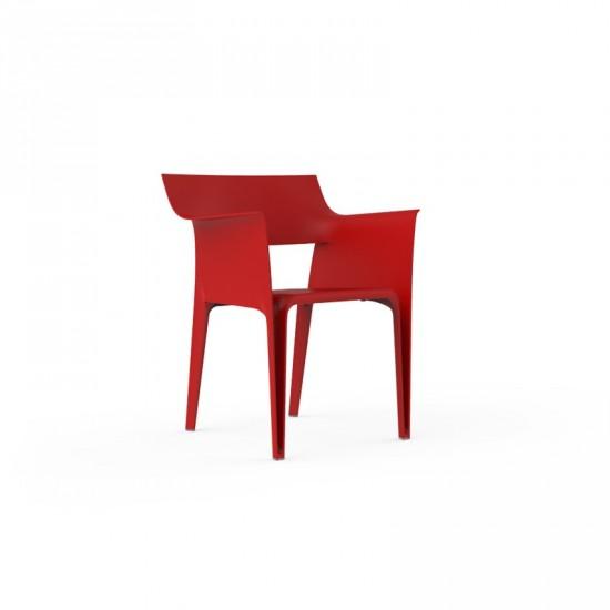 4 chaises PEDREDRA Rouge-VONDOM