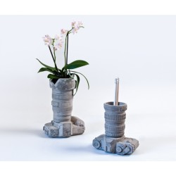 Vases / Pot CAMERA collection CIMENT H 15,5 cm-SELETTI