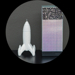 Décoration MEMORABILIA SPACESHIP, Fusée porcelaine- SELETTI