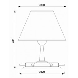 Lampe de table design Barre à roue H 40 cm