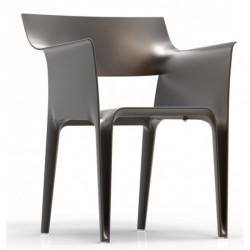 4 chaises PEDREDRA Bronze-Vondom