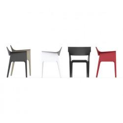 4 chaises PEDREDRA Noires-VONDOM