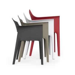 4 chaises PEDREDRA Ecrues - VONDOM