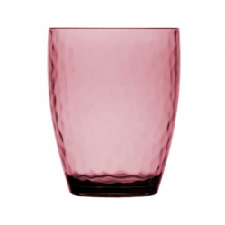 6 Verres à eau rose collection Rosette
