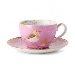 Tasse à thé et sa sous tasse  rose collection Floral, Pip Studio