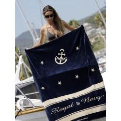 Serviette de bain avec coussin Royal Bleu, Marine Business