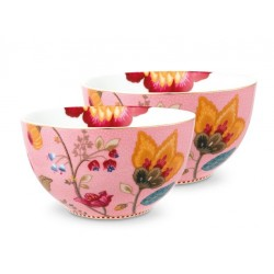 Ensemble  de 2 bols collection Fantasy  Rose-Marque Pip Studio