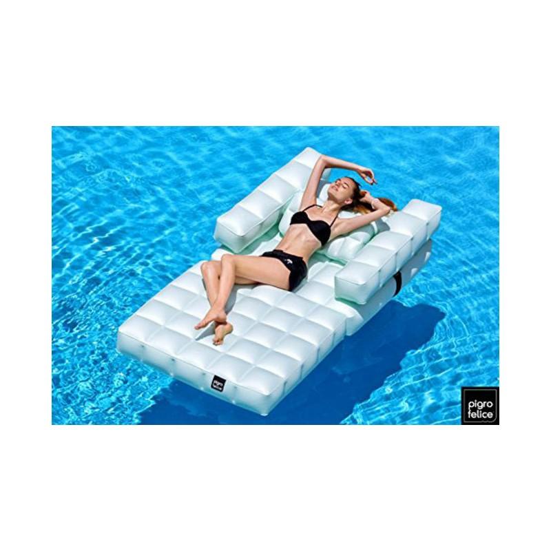 Fauteuil gonflable pour piscines et ext rieurs marque for Chlore pour piscine gonflable