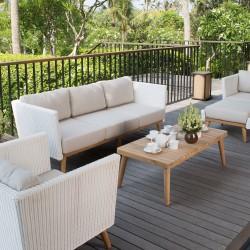 Sofa 3 places POB - Canapé extérieur design haut de gamme