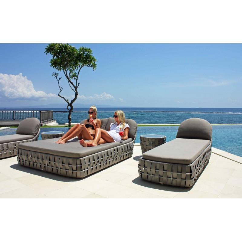 Bain de soleil transat double mobilier outdoor sky line for Mobilier outdoor haut de gamme