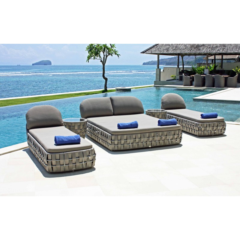 bain de soleil transat double mobilier outdoor sky line design. Black Bedroom Furniture Sets. Home Design Ideas