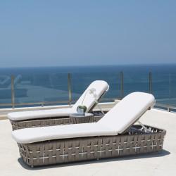 Bain de soleil STRIPS -  chaise longue haut de gamme.