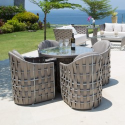 Table ronde STRIPS 4pers/Mobilier outdoor haut de gamme