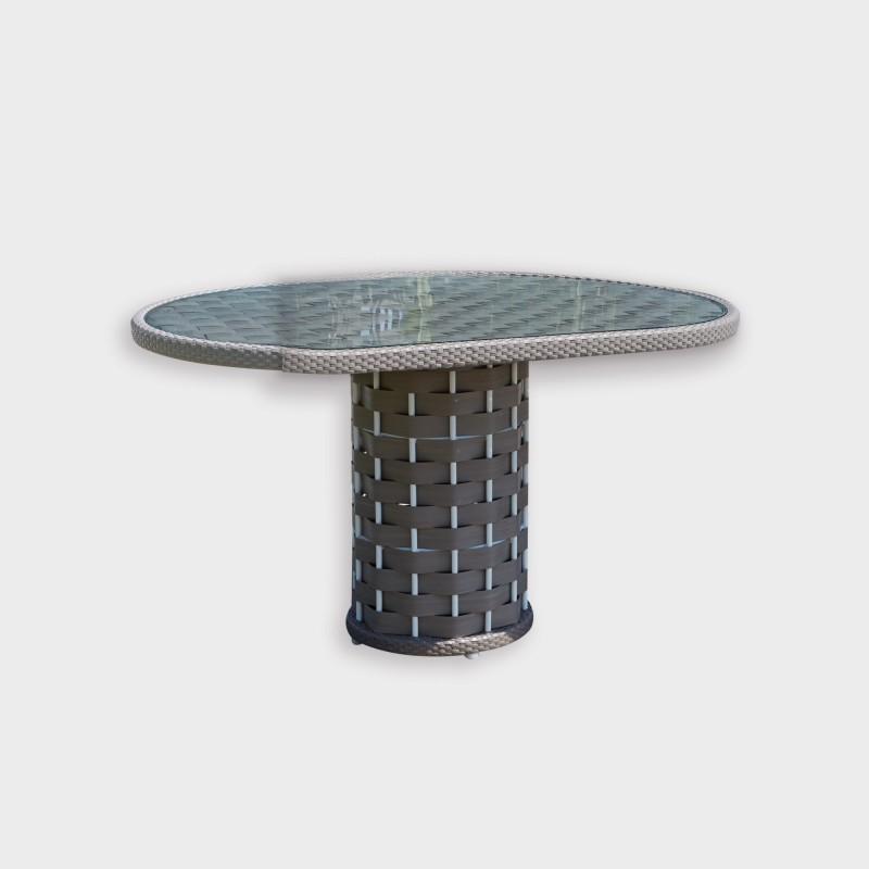 Table ronde strips mobilier haut de gamme sky line design for Table exterieur haut de gamme