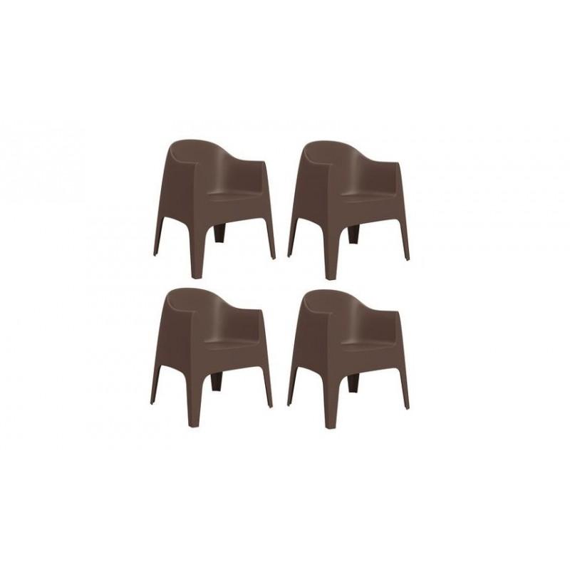 Chaises D'extérieur Accoudoirs Avec Collection 4 Solid Set De iZkXuOP