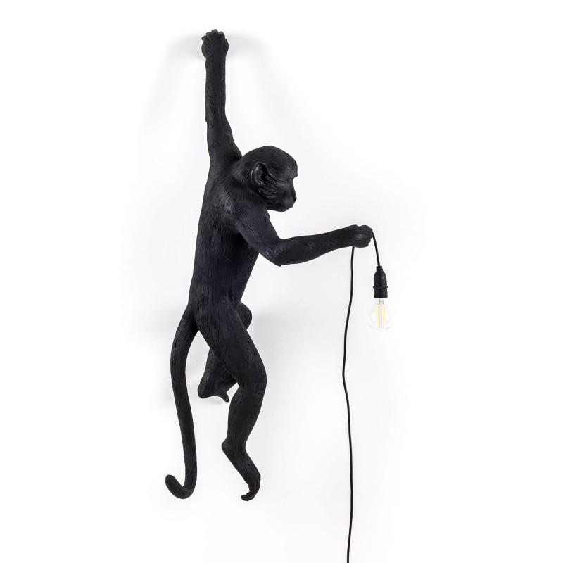 monkey lampe noire applique design lampe singe seletti en stock. Black Bedroom Furniture Sets. Home Design Ideas