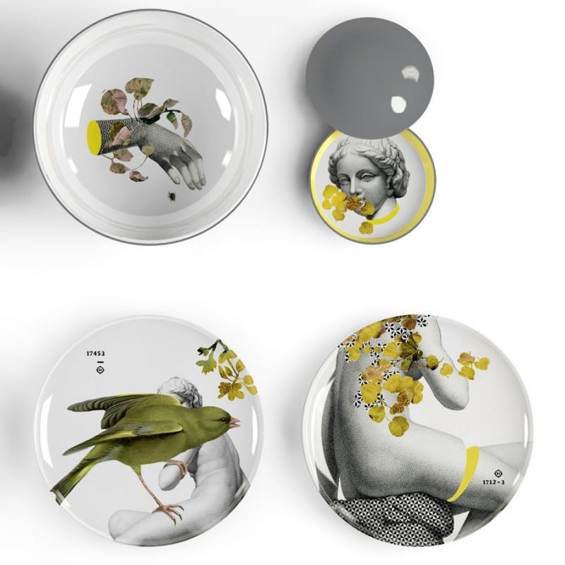 nouveaut marque ibride service yuan parnasse assiette m lamine design. Black Bedroom Furniture Sets. Home Design Ideas