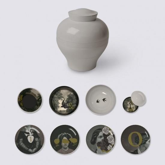 Service Yuan d'Antan/8 piéces /Vaisselle vase-MARQUE IBRIDE