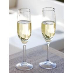 Flûte à champagne, incassable - set de 6 -Spécial extérieurs & bateaux