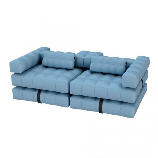 Canapé gonflable bleu marque PIGRO FELICE