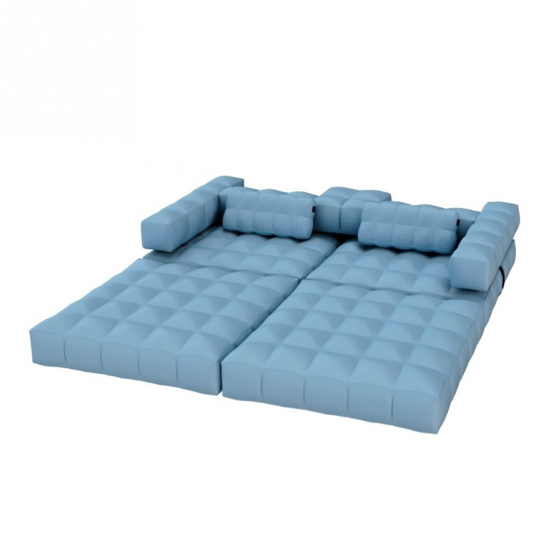 canap gonflable bleu marque pigro felice. Black Bedroom Furniture Sets. Home Design Ideas