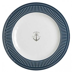 Assiette Plate SAILOR SOUL-Incassable-motif marine-Set de 6