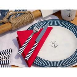 Assiette Plate SAILOR SOUL-Incassable-motif marine-Set de 6