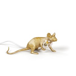 Lampe de Table souris Seletti - Gold Mouse lamp