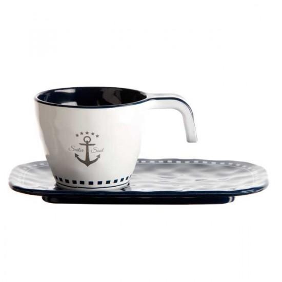 Tasses et Sous tasses à Café - Marine Business- SAILOR SOUL
